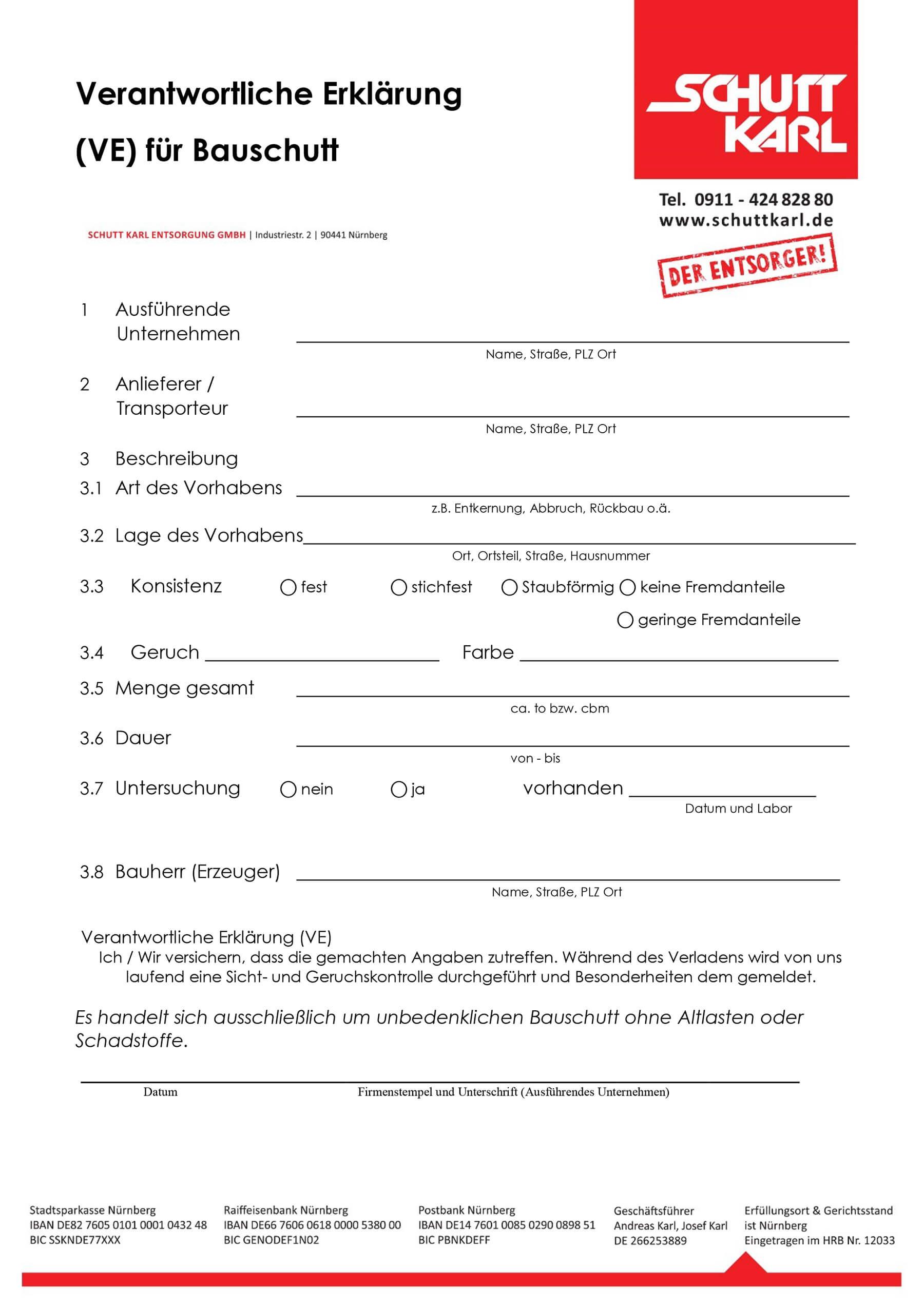 Schutt Karl | VE Bauschutt